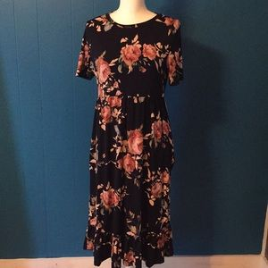 Pretty Floral Dress with Sleeves & Pockets!! Sz XL